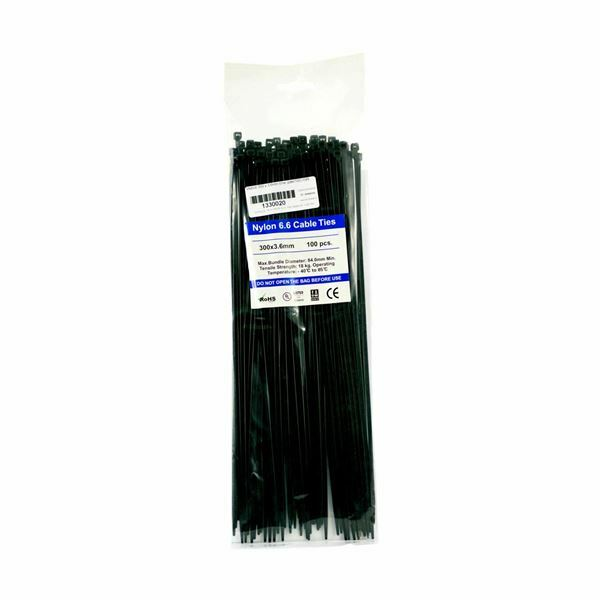 Picture of Vezice 300 x 3,6mm črne UV (pak/100) GW