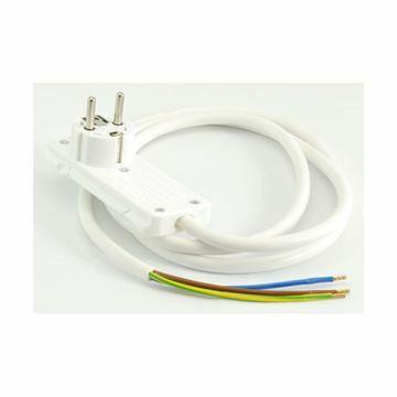 Slika Vtikač 220V ploščat s kablom 1,5m FLAT PLUG bel Bachmann