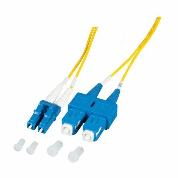 Optični kabel SM OS2 1m rumen Duplex EFB