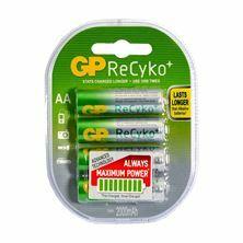 Polnilne baterije AA-2000 mAh Ni-Mh GP ReCyko