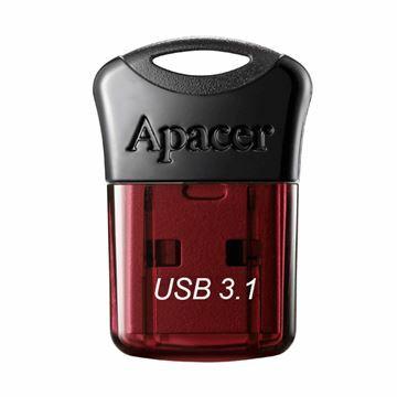 Slika USB 3.1 ključ    16Gb  AH157 APACER super mini, rdeč