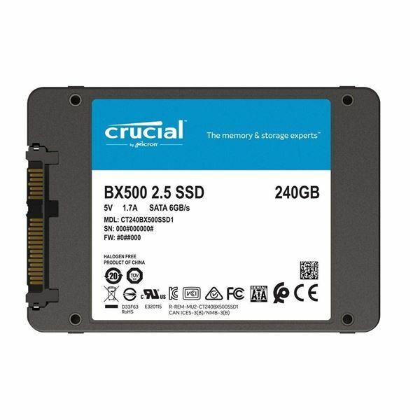 SSD disk 240 GB SATA 3 3D TLC BX500 CRUCIAL