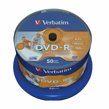 Picture of DVD-R 4,7Gb 16x 50-cake printable Verbatim