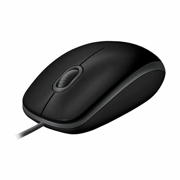 Miška Logitech B110 USB optična Silent Plus črna