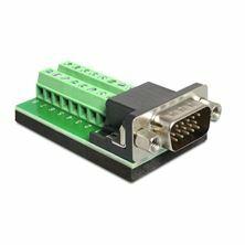 Slika Adapter VGA 15M / terminal block Delock