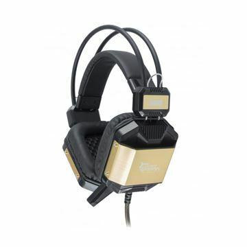 Picture of Slušalke + mikrofon WHITE SHARK GHS-1646 JAGUAR črno/zlata