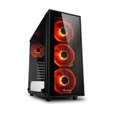 Picture of Ohišje PC midi tower ATX TG4 Sharkoon brez napajanja črn, rdeči LED