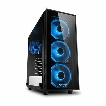 Slika Ohišje PC midi tower ATX TG4 Sharkoon brez napajanja črn, modri LED
