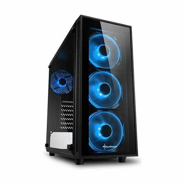 Picture of Ohišje PC midi tower ATX TG4 Sharkoon brez napajanja črn, modri LED