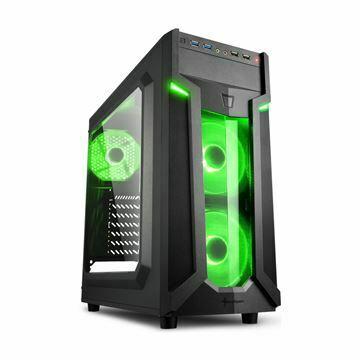 Slika Ohišje PC midi tower ATX VG6-W Sharkoon brez napajanja črn, zeleni LED
