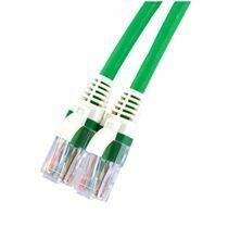 UTP kabel CAT5e 1,5m zelen Leviton LSOH