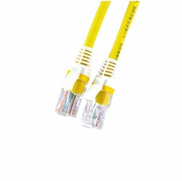 UTP kabel CAT5e 1,5m rumen Leviton LSOH