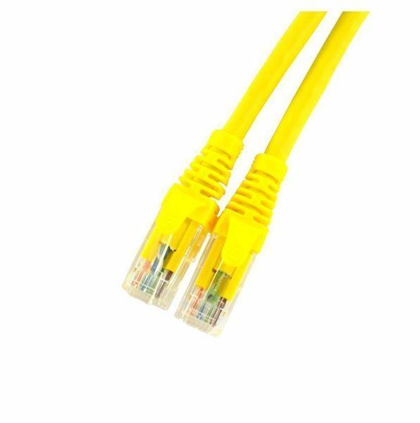 UTP kabel CAT6 1m rumen Leviton LSOH