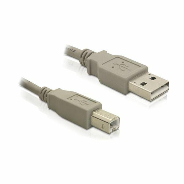 Kabel USB A-B 1,8m Delock siv