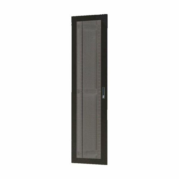 Vrata perforirana 42U, širine 600mm za kabinet Toten, črna