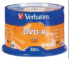 Slika DVD-R 4,7Gb 16x 50-cake Verbatim