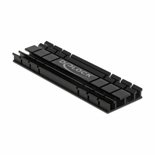 Pasivni Hladilnik za M.2 NVMe SSD 70mm črn Delock