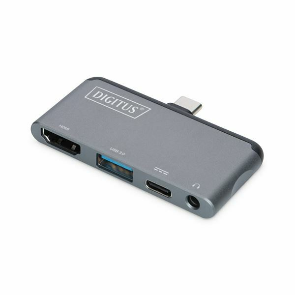 Pretvornik USB 3.1 Tip-C Mobilni docking station 4 port Digitus