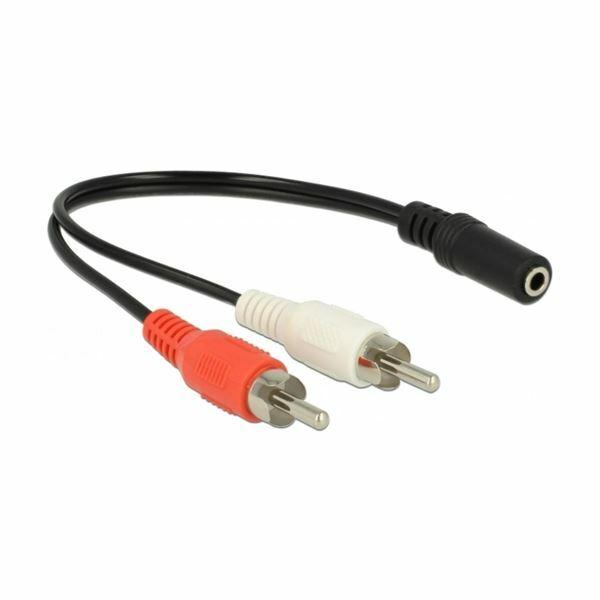 Adapter AVDIO 2xRCA 20cm Delock 85806