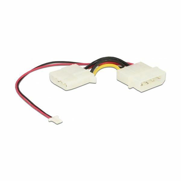 Adapter DC 1x Molex M- 1x Molex Ž+3pin Ž za SATA DOM Delock 54063
