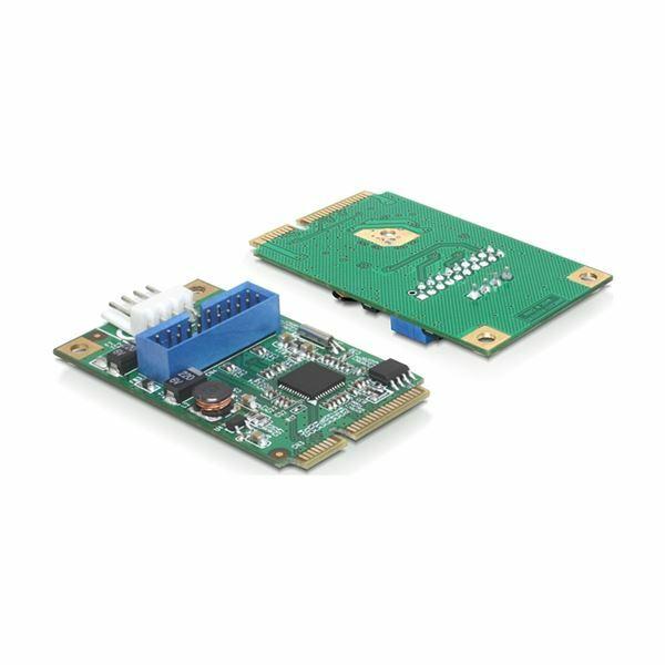 Kartica mini PCIe I/O PCIe 1x19pin USB 3.0 Pin Header moški Delock 95234