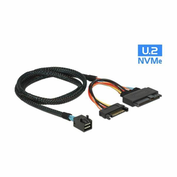 Kabel SFF 8643 M 0,75m Delock 84821