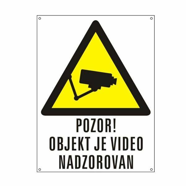 PVC tabla video nadzor označevanje