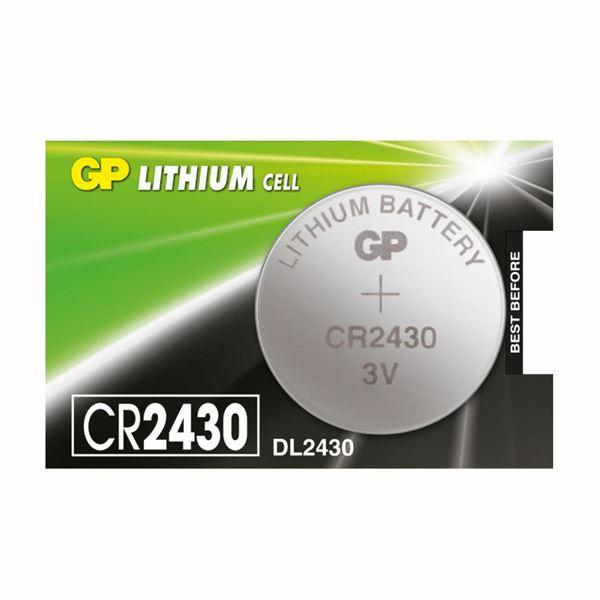 Baterija gumb litijeva CR2430 3V GP