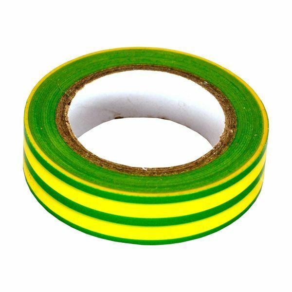 Izolirni trak 15mm/10m zeleno/rumen