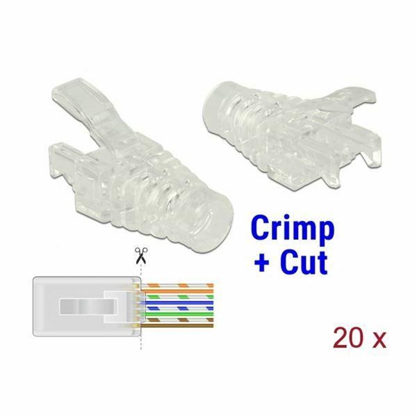 Zaščitna plastika za RJ45 Crimp&Cut Delock (pak/20)