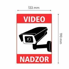 "Slika Nalepka ""VIDEONADZOR"" A5 (190x133) bela"