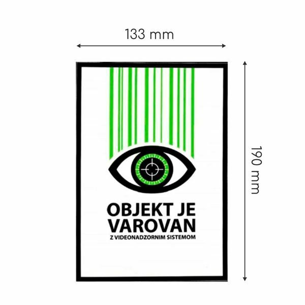 "Picture of Nalepka ""VIDEO"" A5 (190x133) prozorna"