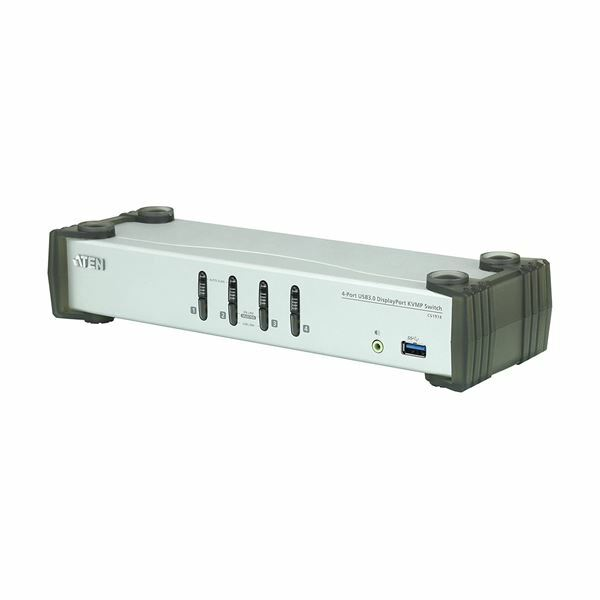 KVM stikalo 4:1 DisplayPort USB 3.0 s kabli Aten CS1914