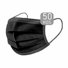 Zaščitna maska odrasla črna 50 kos