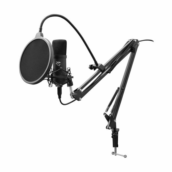 Mikrofon kondenzatorski na roki za Podcast in Streaming DSM-01 White Shark