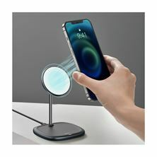 QI brezžični hitri polnilec 15W magnetni iPhone 12 magsafe Tip C črn Baseus WXSW-01