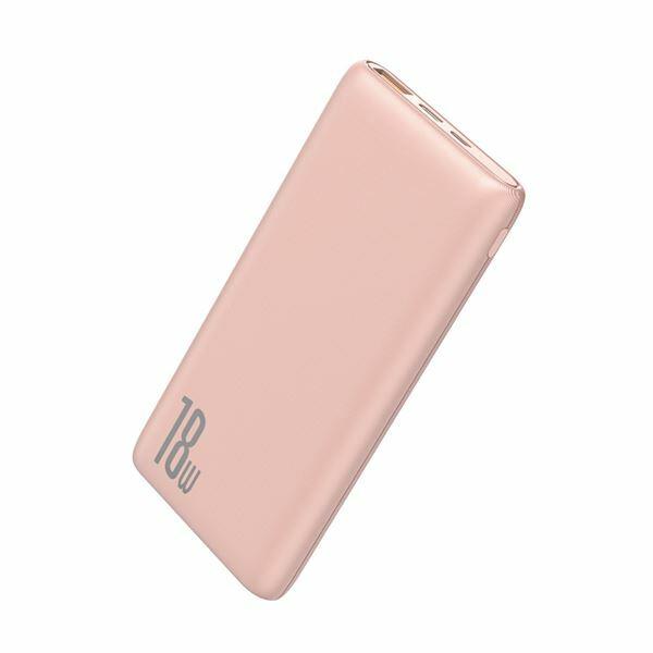 Napajalnik mobilni Baseus Power Bank 10.000, 18W, PD, QC3, pink PPDML-04