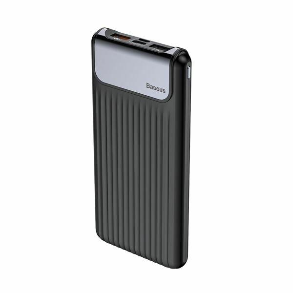 Napajalnik mobilni Baseus Power Bank 10.000, QC 3.0, kabel 0,5m B mikro, črn PPYZ-C01
