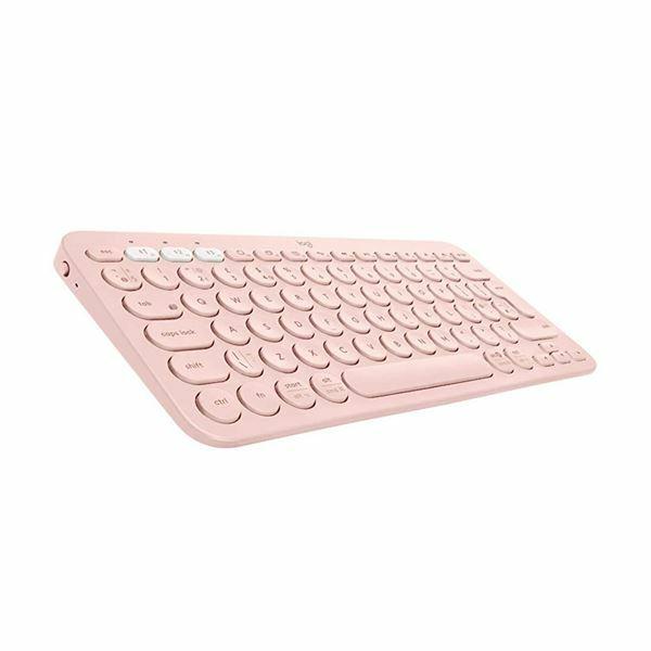 Tipkovnica Logitech K380 Brezžična Multi-Device, SLO roza 920-009867