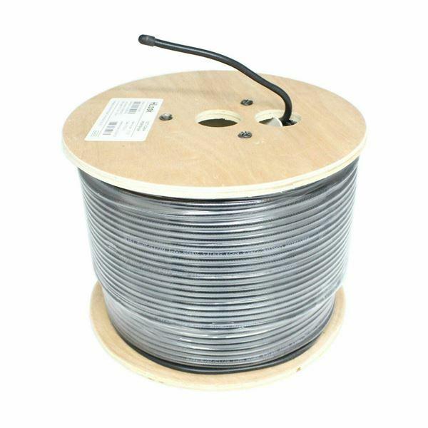 Kabel koaksialni kombo RG59/3.7 črn 200m kolut Hilook