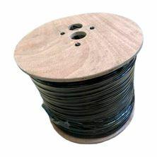 Kabel koaksialni kombo RG59/3.7, 2X 0,5 črn 200m kolut Hilook