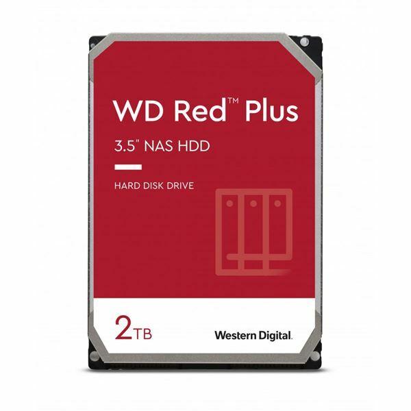Trdi disk 9cm 2TB WD RED PLUS CMR 128MB, 6Gb/s SATA III, WD20EFZX
