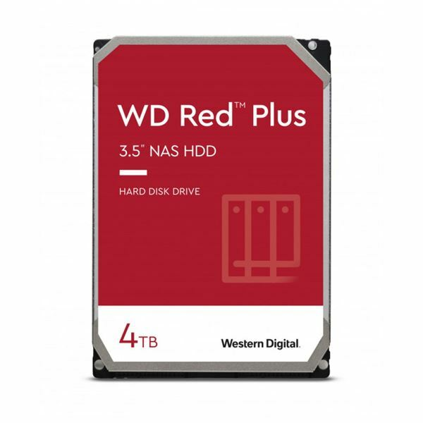 Trdi disk 9cm 4TB WD RED PLUS CMR 128MB, WD40EFZX