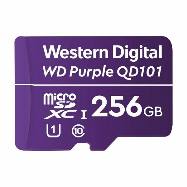 Pomnilniška kartica microSD XC 256GB WD PURPLE QD101