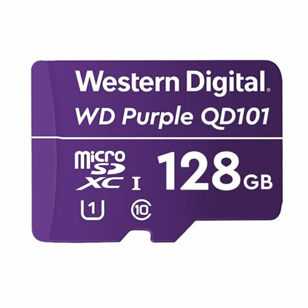 Pomnilniška kartica microSD XC 128GB WD PURPLE QD101, WDD128G1P0C