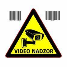 """Slika Nalepka trikotna """"VIDEONADZOR"""" A5 (145x145)"""