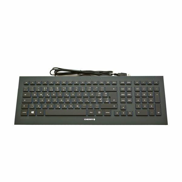 Tipkovnica Cherry STRAIT 3.0, črna, USB, UK SLO gravura, JK-0360GB