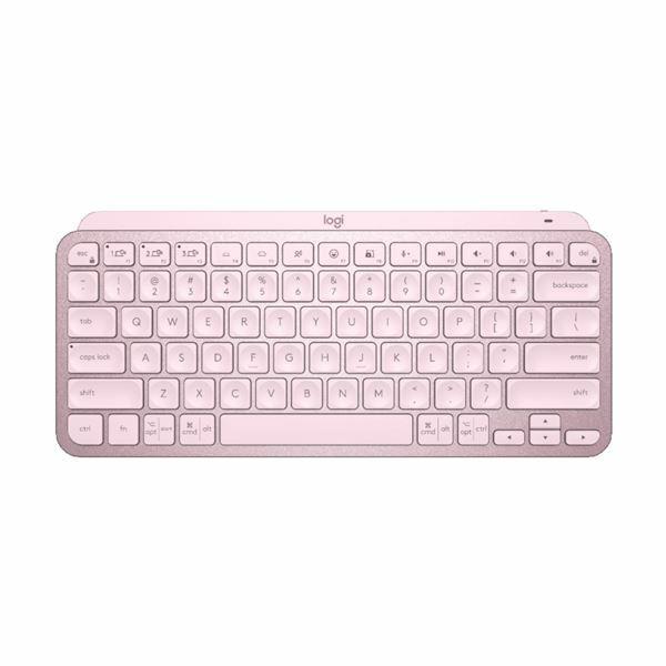 Tipkovnica Logitech MX Keys Mini Brezžična, SLO osvetljena, roza, 920-010500