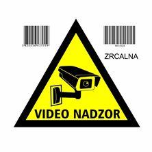 "Nalepka trikotna zrcalna ""VIDEONADZOR"" A5 (145x145) obojestranska"